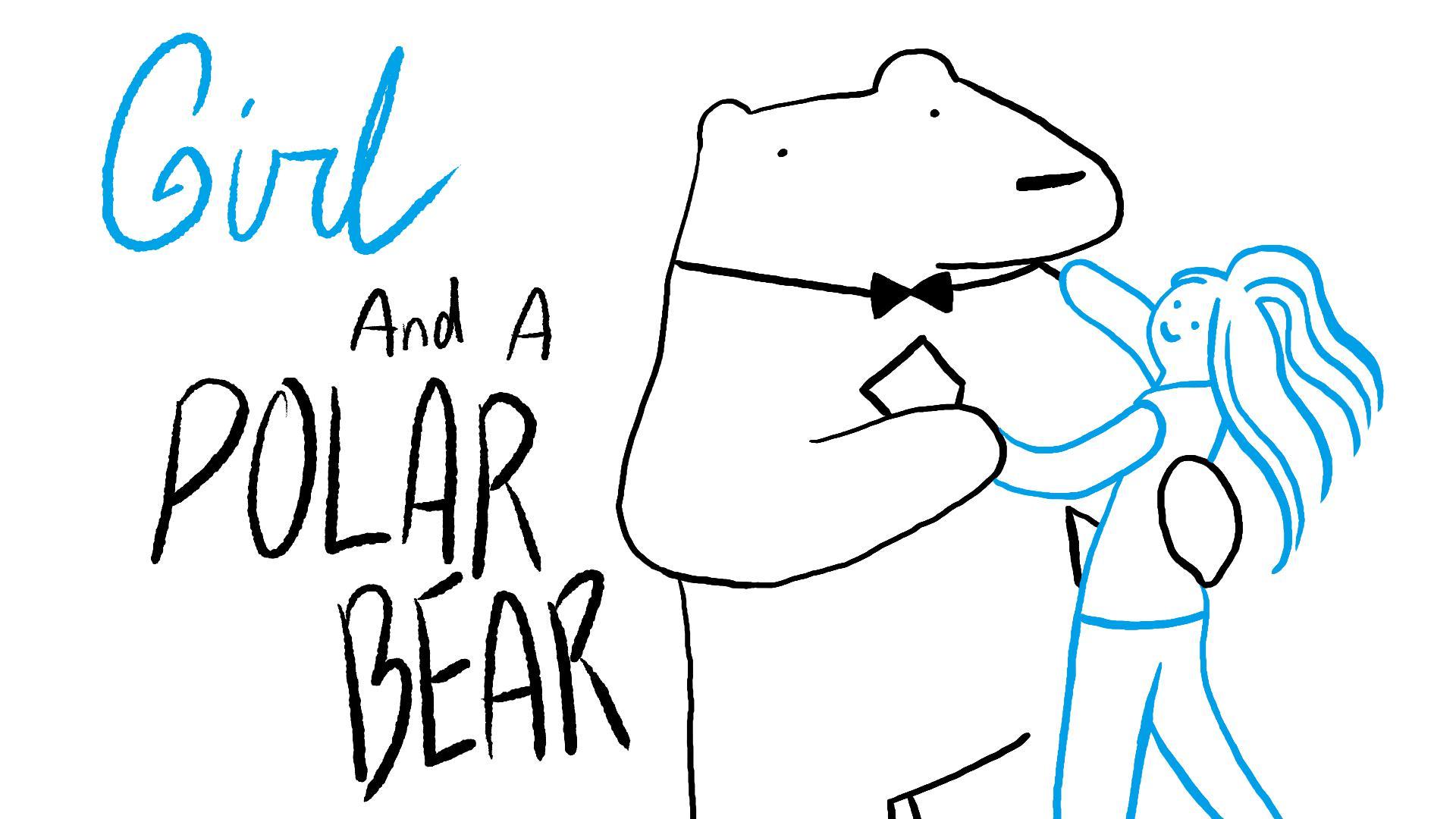 Girl And A Polar Bear